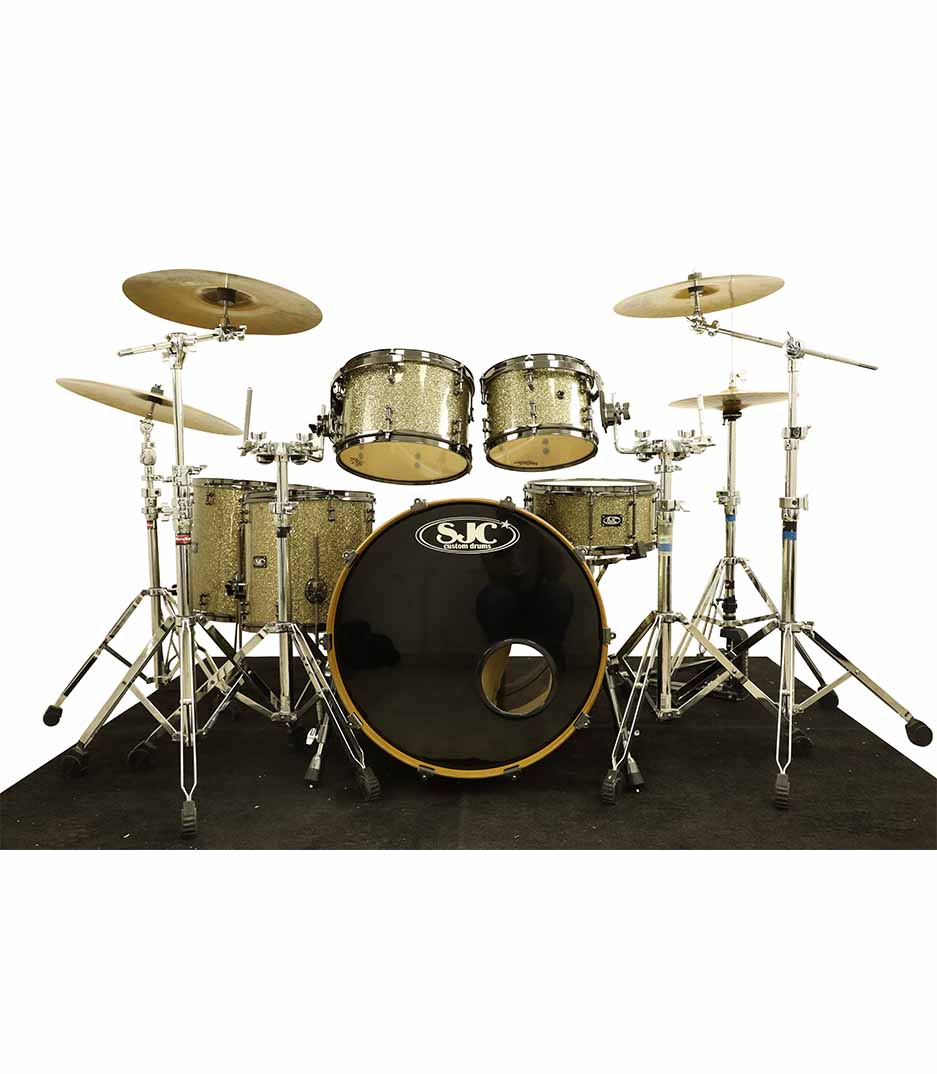 SJC Custom Ginger Glitter 6pc Drumkit
