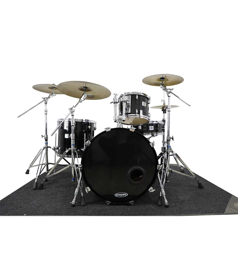 Yamaha Maple Custom Absolute Black Chrome 4pc Drumkit